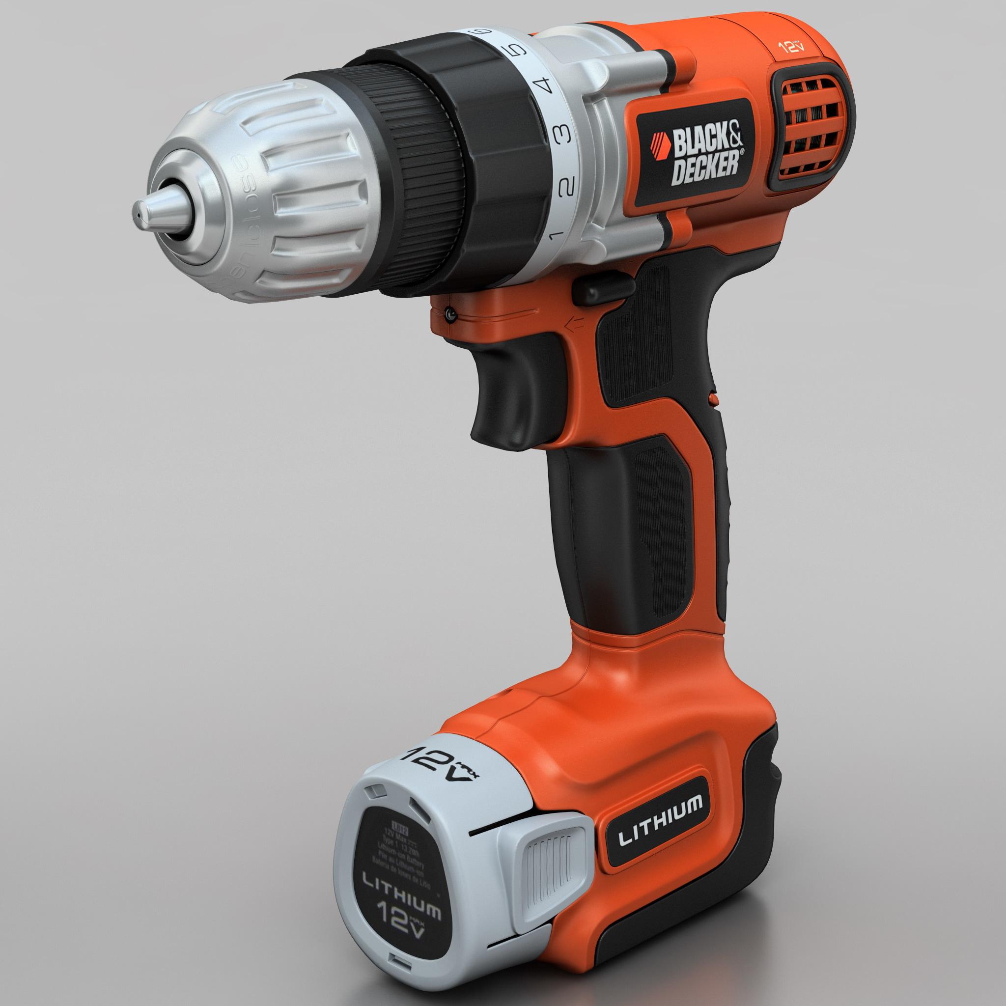 drill black decker ldx112c 3d 3ds