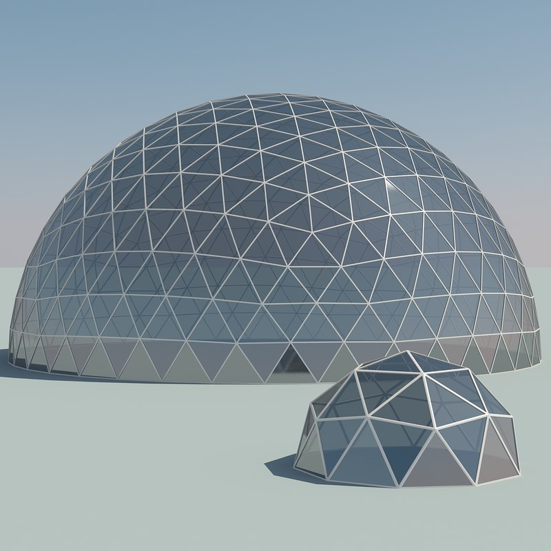 dome geodesic 3d model