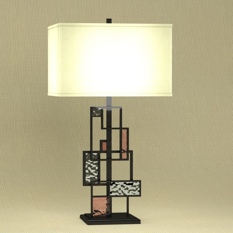 modern table lamp 3d max