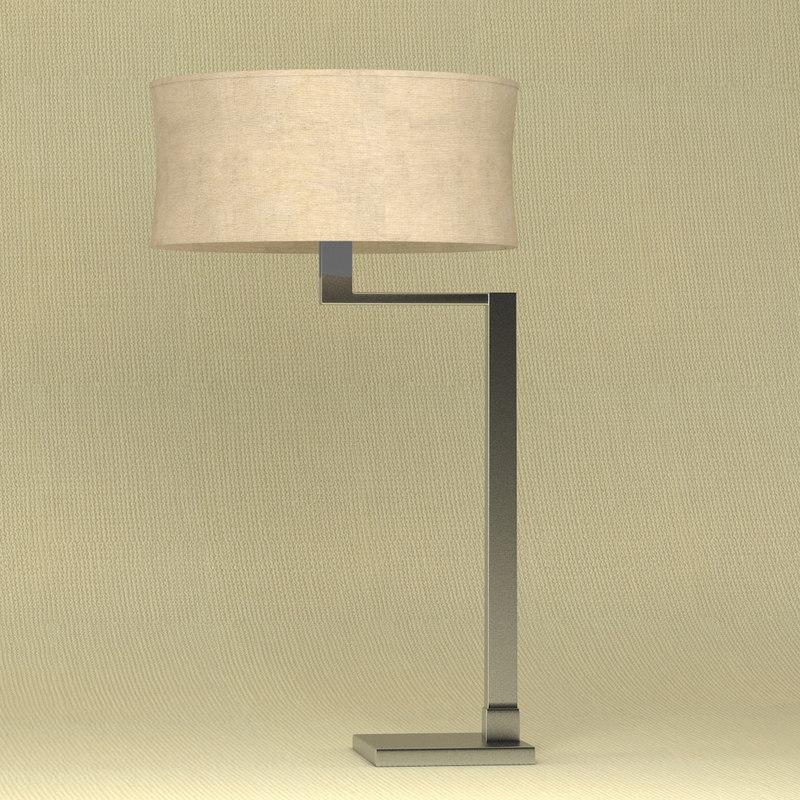 3d table lamp aluminium model