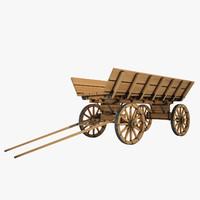 Wooden Cart 01