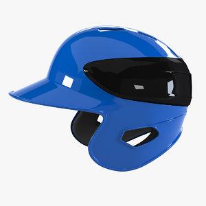 3d model baseball helmet