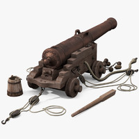 cannon naval french 3d x