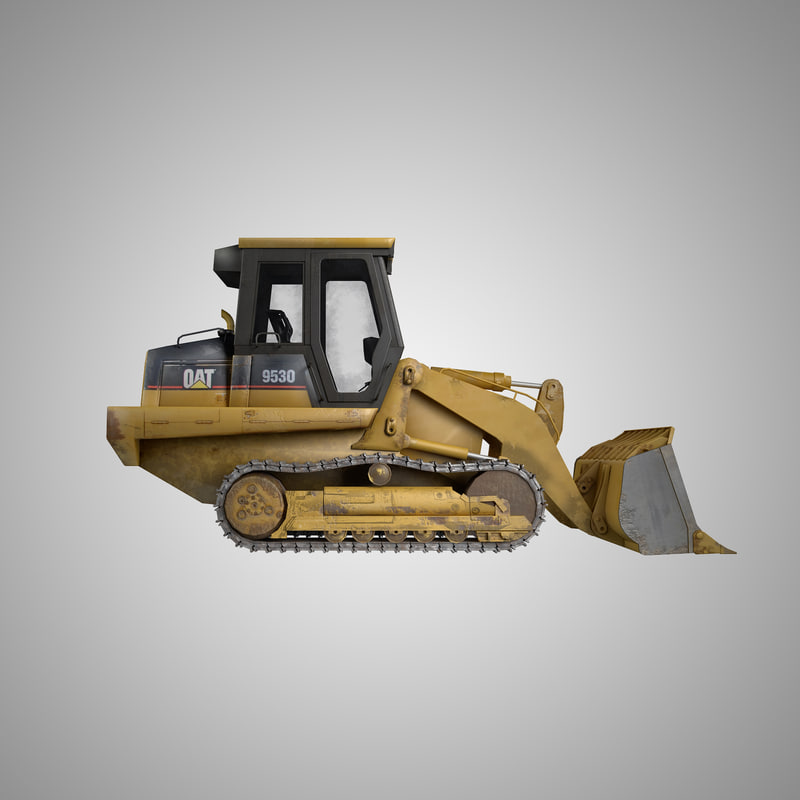 3d max dozer low-poly rigged