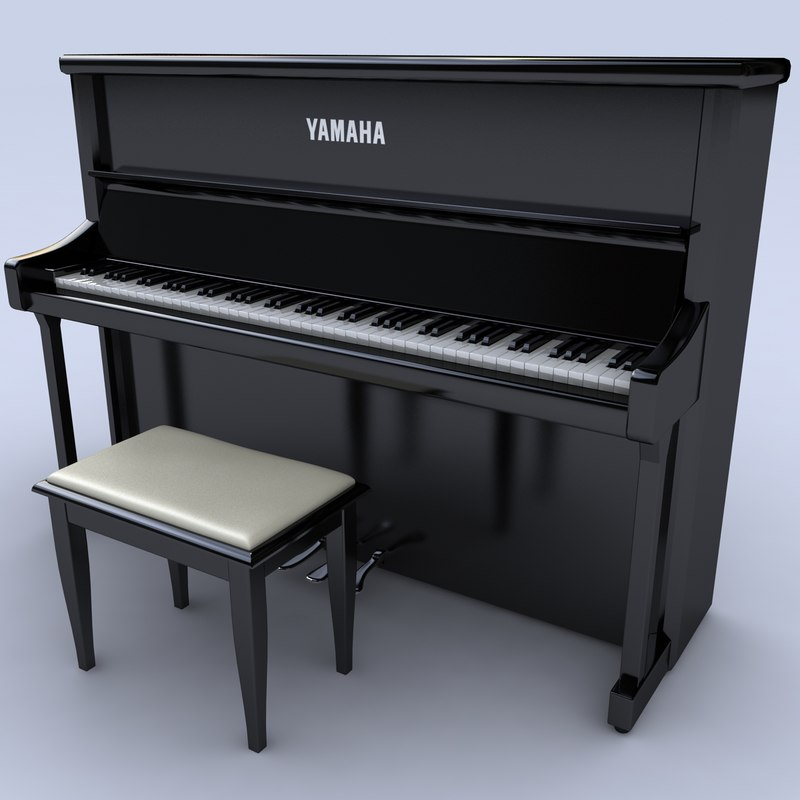 3d piano keyboard instrument model