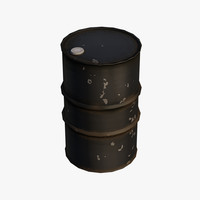 metal barrel pack 3d model