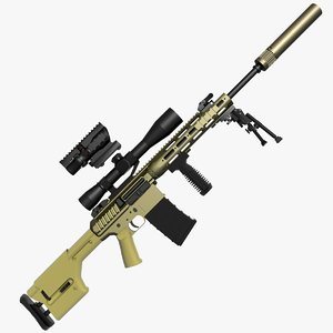 3d max remington sniper rifle