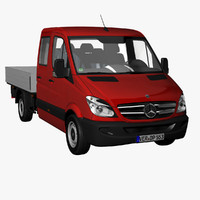 sprinter crewcab truck 2012 3d model