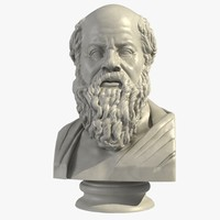 bust sokrates greek 3d max