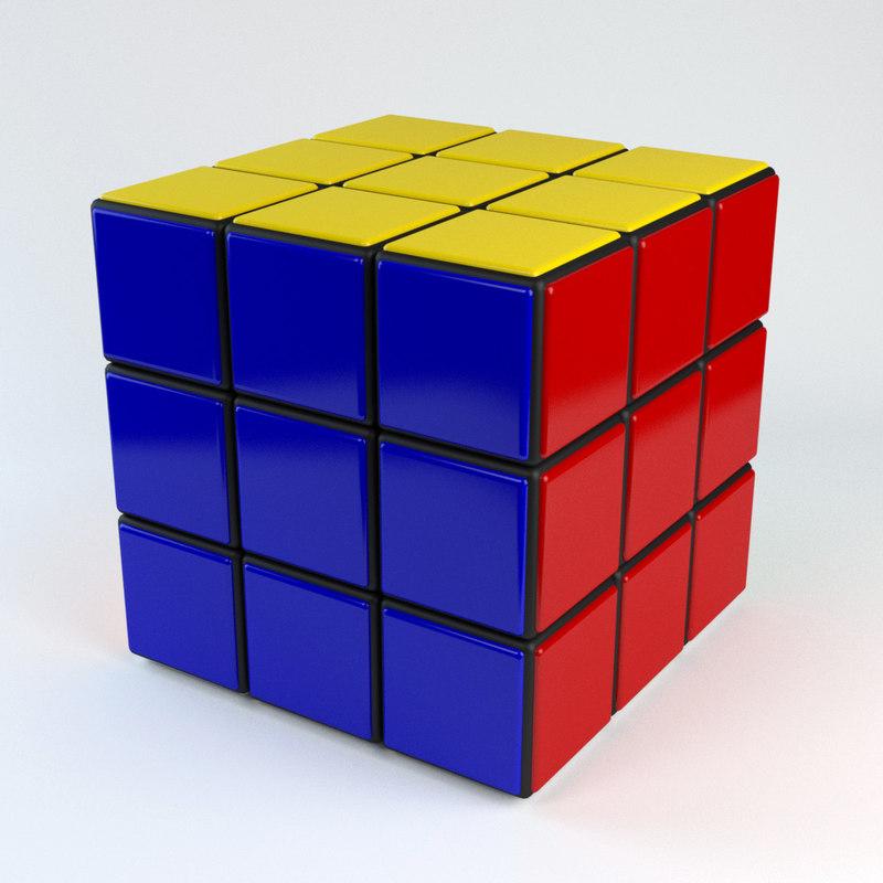 rubik s cube 3d max