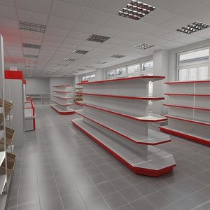 3d model of food shop