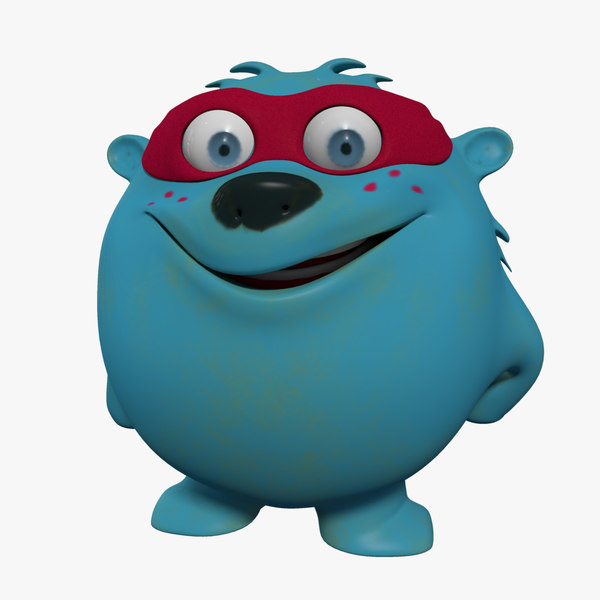 monster cartoon character facial animation obj