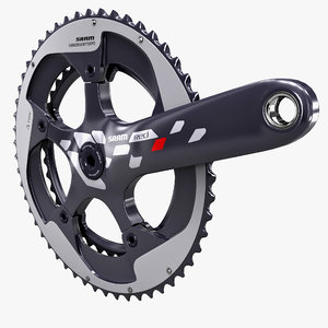 3ds max bicycle crankset sram red