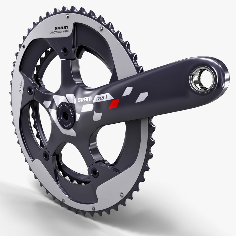 3ds max bicycle crankset sram red