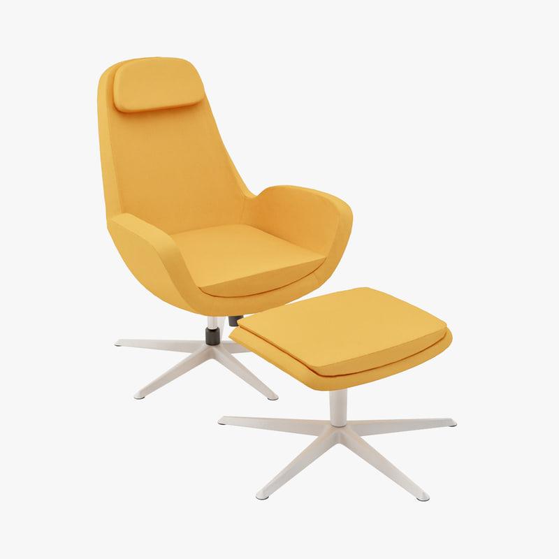 karlstad swivel chair 3ds