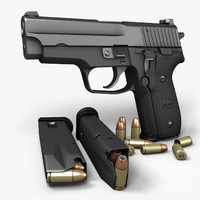 3d model sig sauer p228 pistols