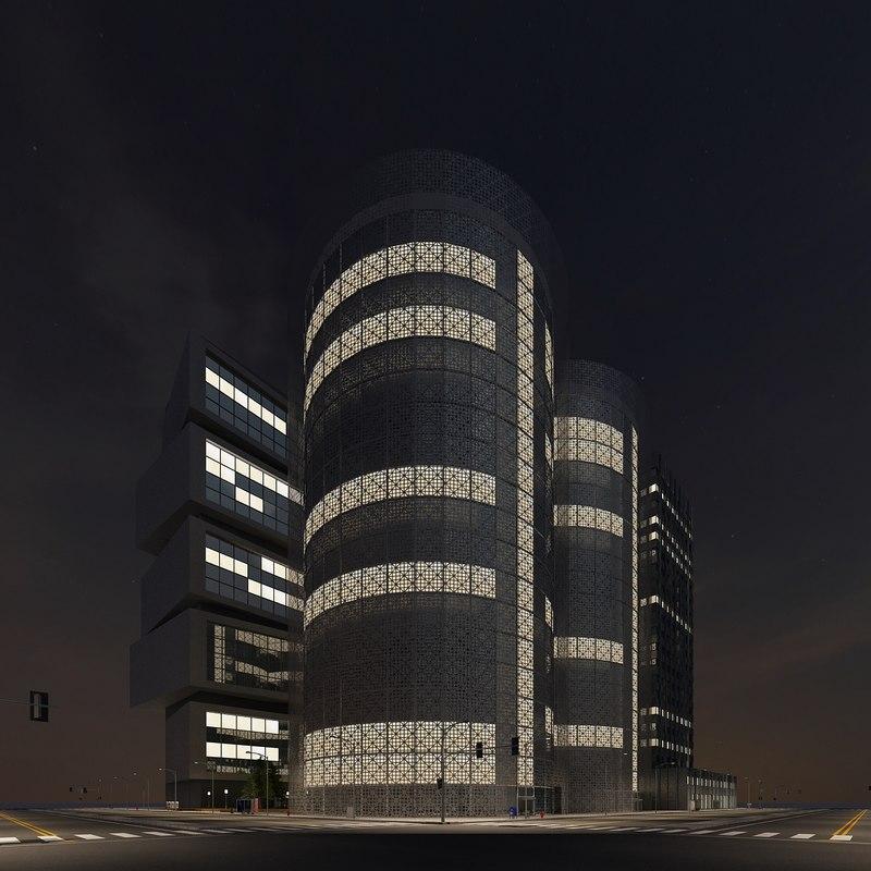 3d model new city block 15