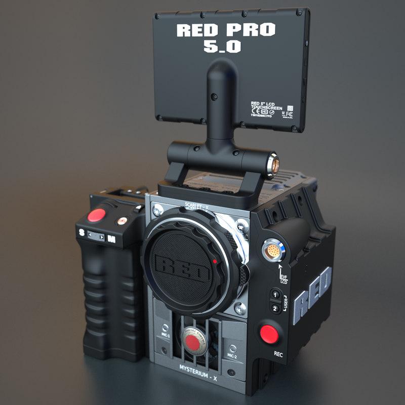 3d digital camera red