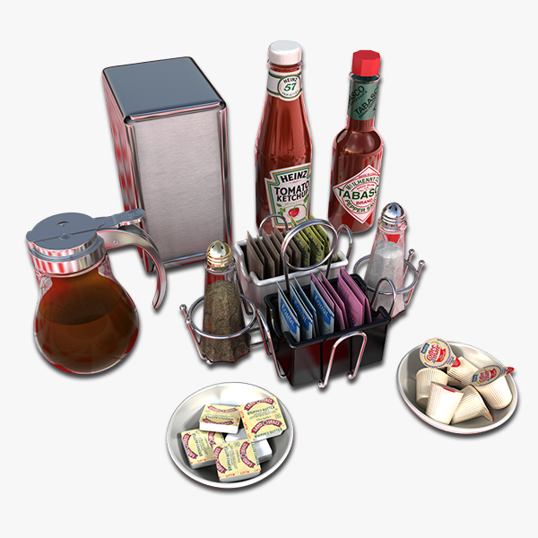 3ds max breakfast condiments