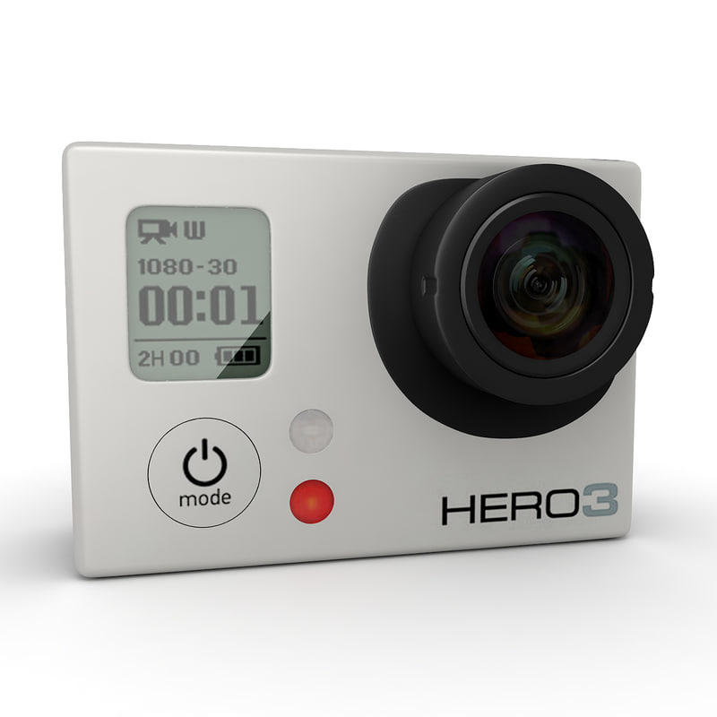 gopro hero 3 camera 3d model