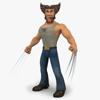 3d cartoon wolverine