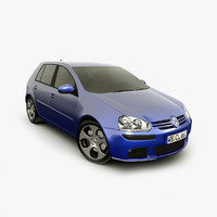 3d model of volkswagen golf 5