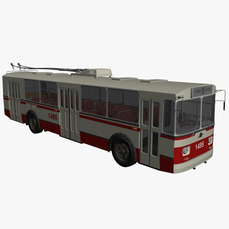 bus trolley 3d model
