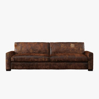 maxwell leather sleeper sofa 3d max