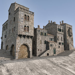 medieval city 3d max