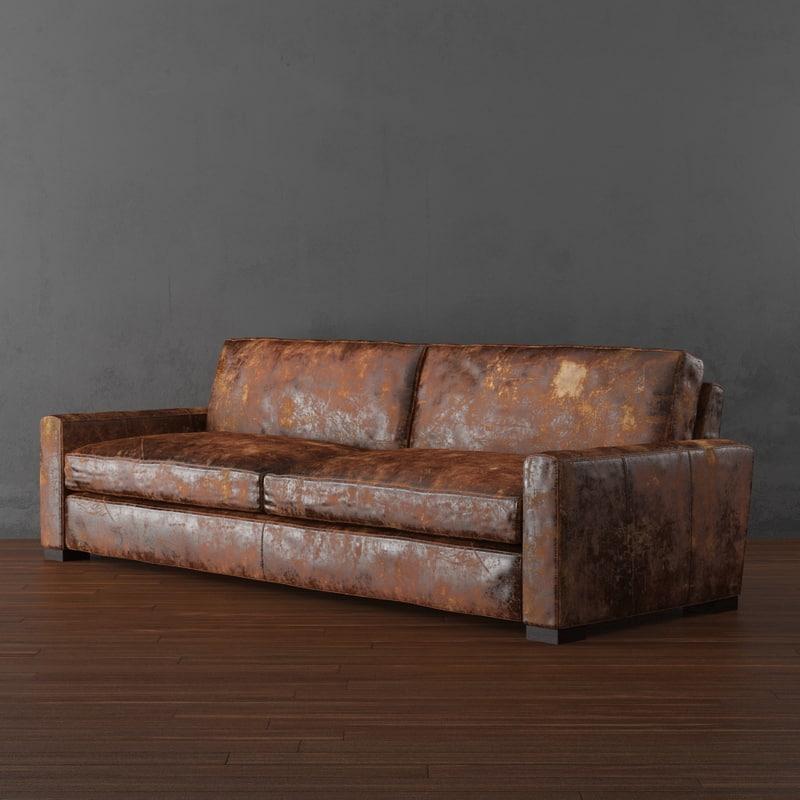 leather sleeper sofa 3d max