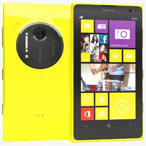 nokia lumia 1020 yellow 3d max