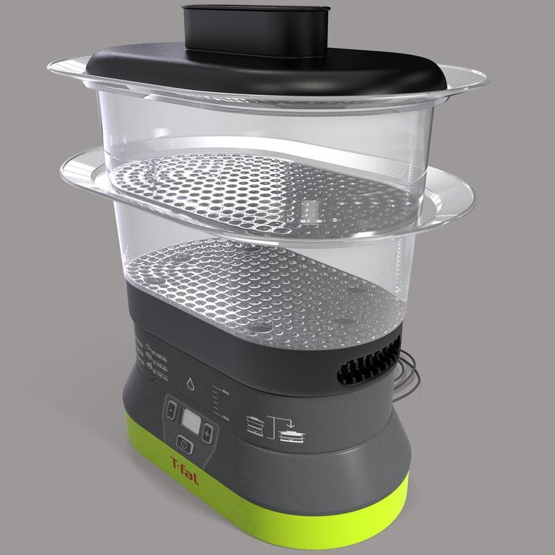 3d 4 quart food steamer model