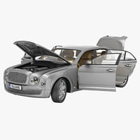 Bentley Mulsanne Mulliner 2013 Rigged