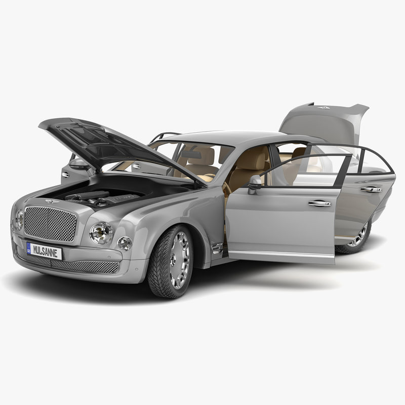Bentley Mulsanne: Bentley Mulsanne Mulliner 2013 3d Model
