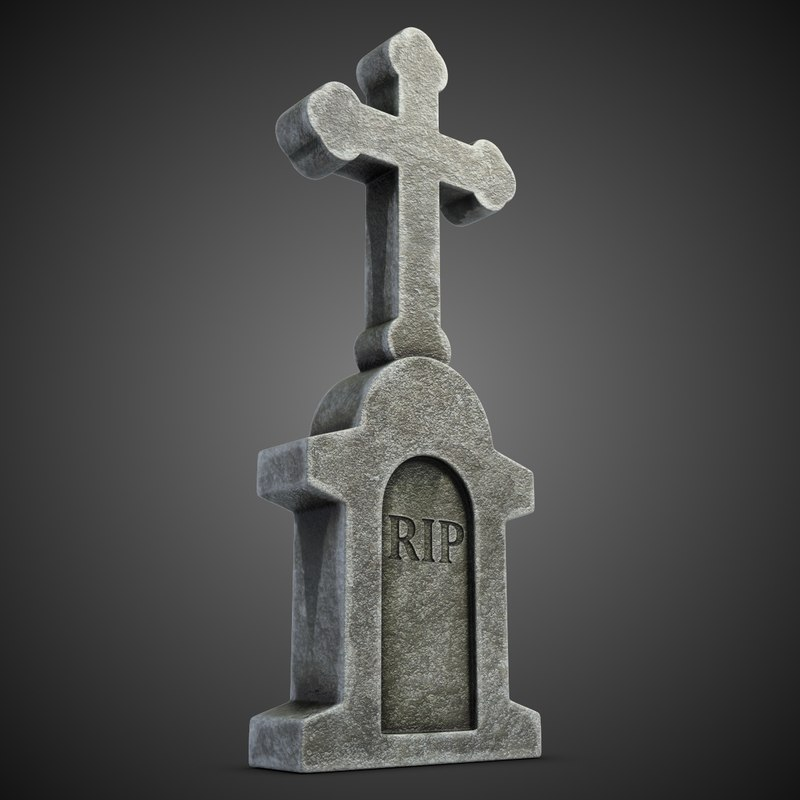 cemetery cross 2 3d model
