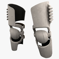 3d futuristic soldier armor knee model
