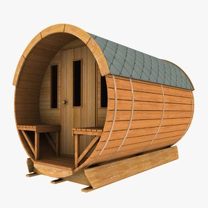 3d concept wooden garden shed