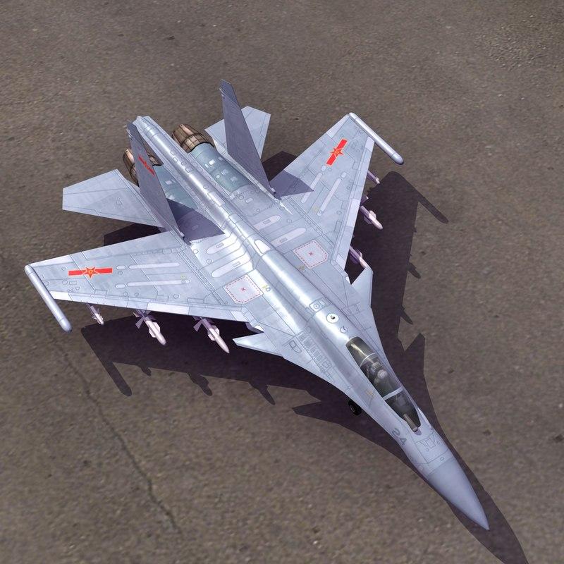 shenyang j15 flying shark 3d model