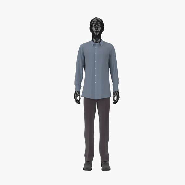 showroom mannequin male 02 3d 3ds