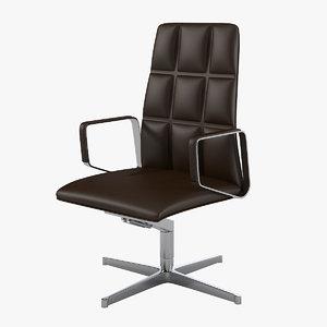 3d model walter knoll swivel leadchair