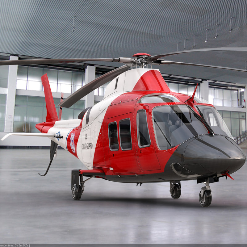 3d model agusta helicopter interior