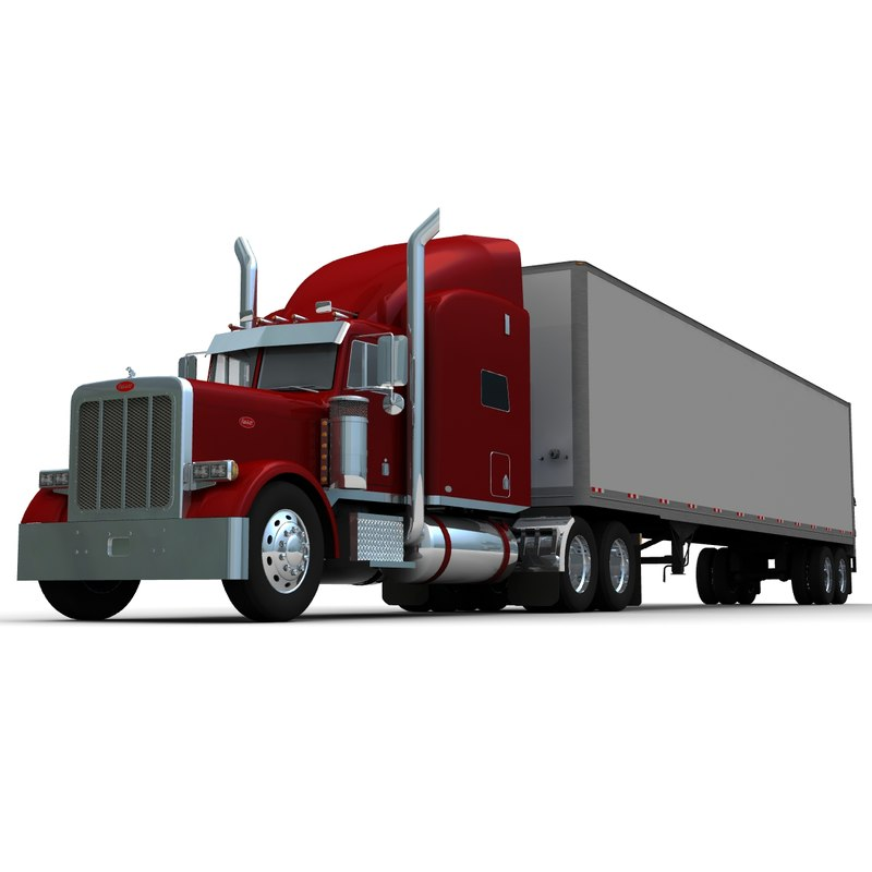 3d model of truck trailer 379