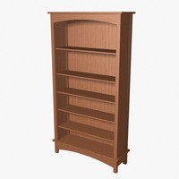 3d model amish bookcase book