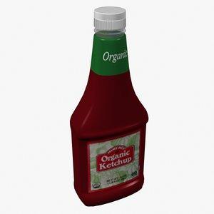 organic ketchup 3d obj