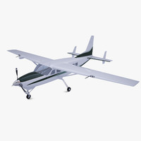 3d model polygonal cessna caravan 675