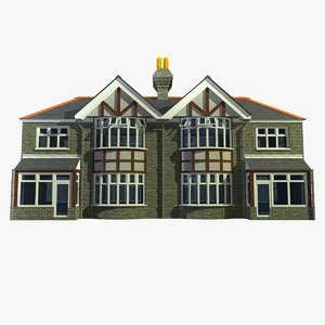 3d 2 british semi detached model