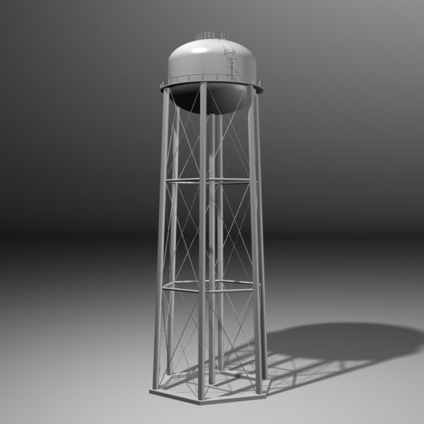 water tower 3d max