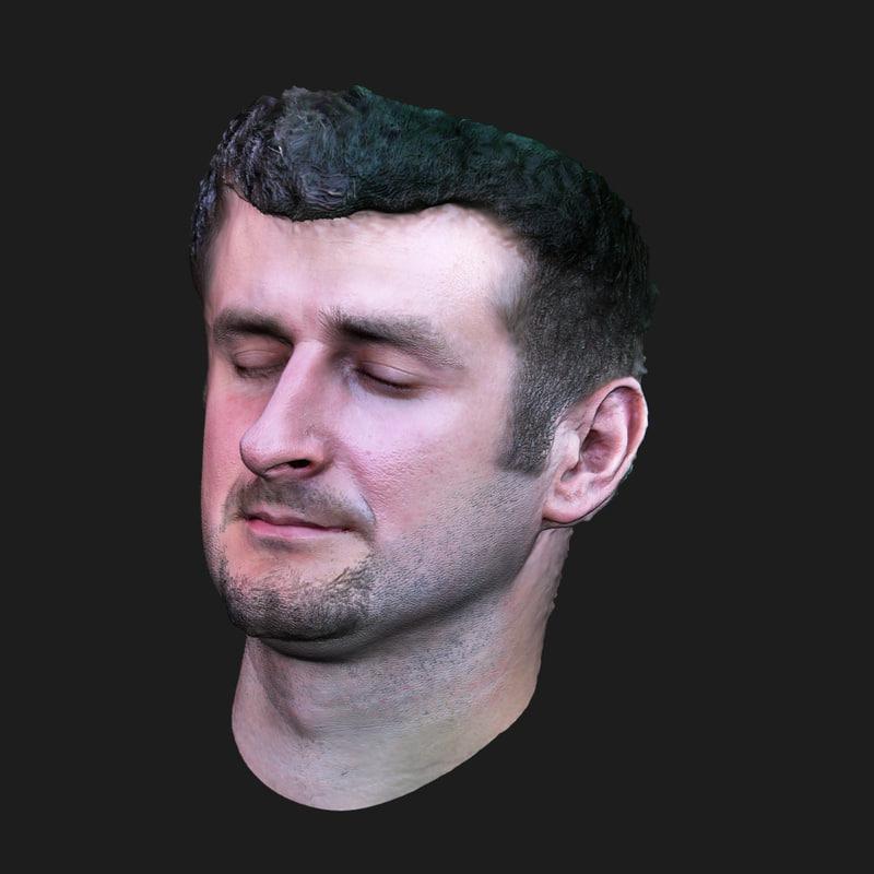 scan face 3d obj