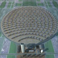 3d solar power plant model