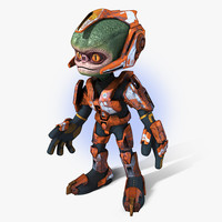 Cartoon Alien Trooper